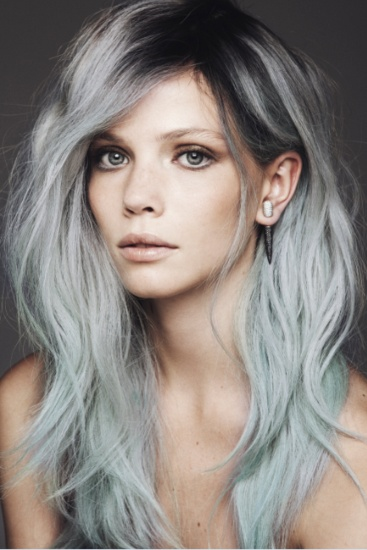 reverse ombre hair color for gray