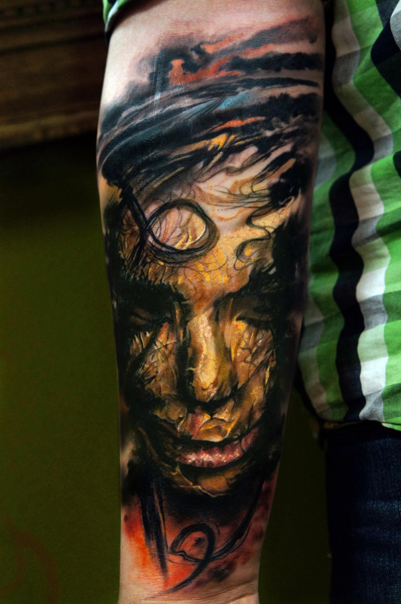 Domantas Parvainis, tattoo artist