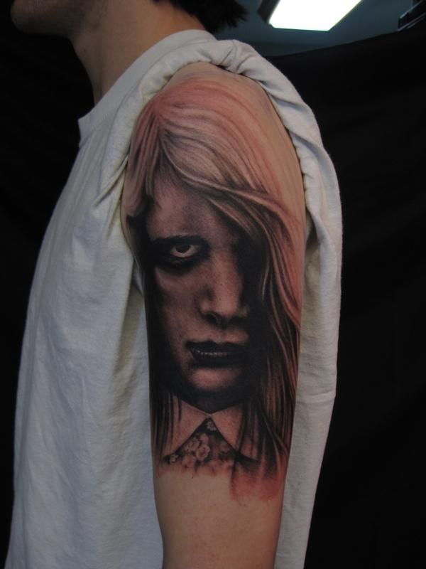 night of the living dead black and grey arm tattoo jon von glahn
