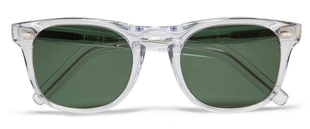 cutler and gross clear frame sunglasses at mrportercom