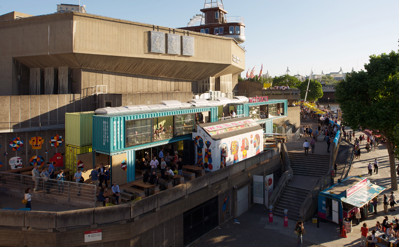 Checkin wahaca southbank experiment shipping container restaurant the vandallist - Wahaca shipping container restaurant ...