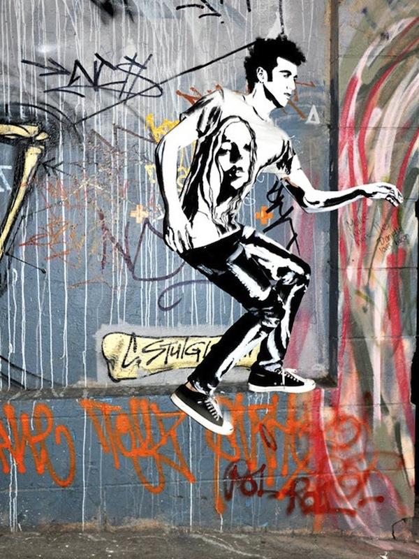 Models Into Graffiti 2d Street Art By Alexa Meade