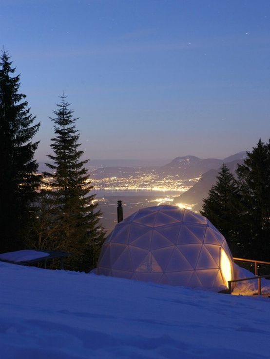 Swiss Alps pod hotel