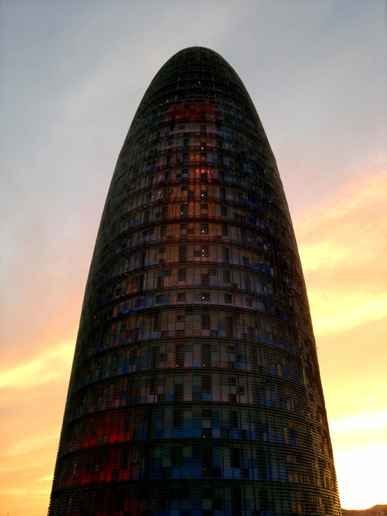 Torre Agbar taken from Diagonal Hotel