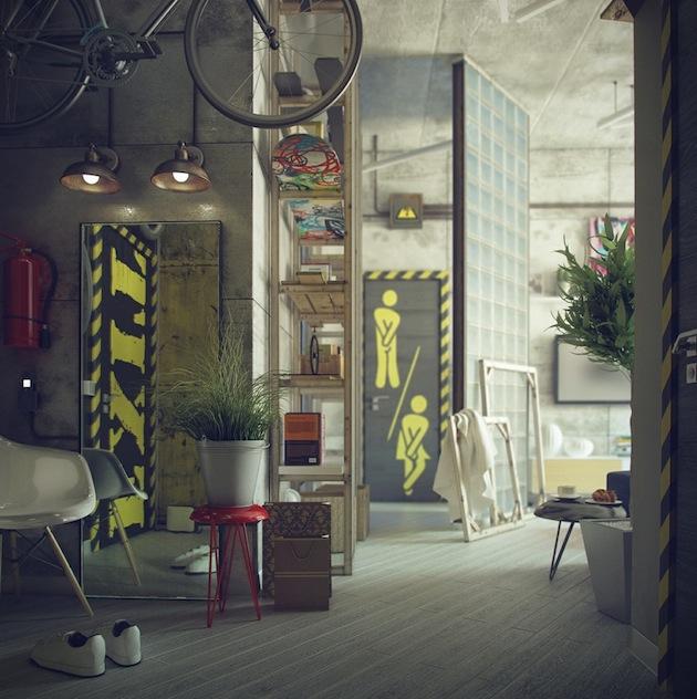 Industrial-Bachelors-Loft-by-Maxim-Zhukov-5