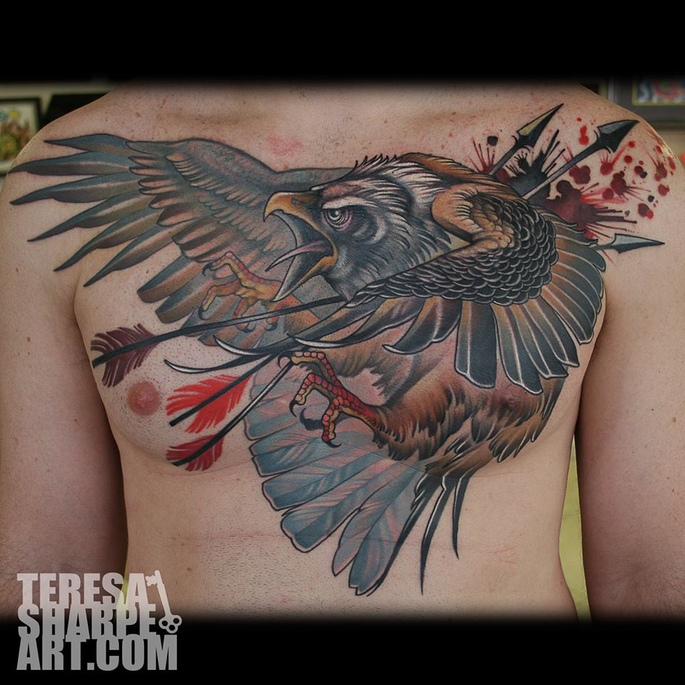 Chest Tattoos: Teresa Sharpe, Tattoo Artist