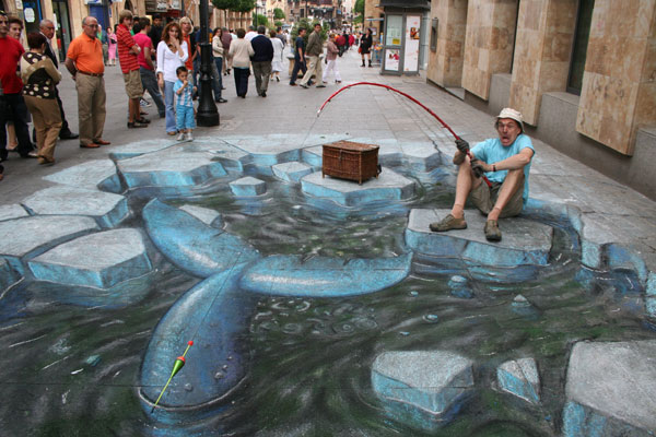 Julian Beever 's 3D pavement drawings #artpeople