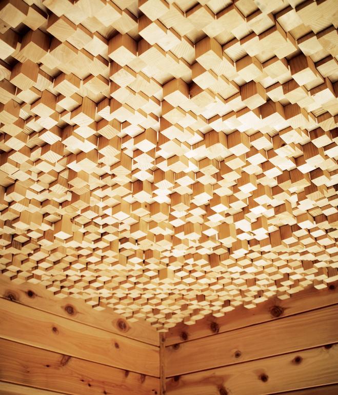 hollywood cabin wood ceiling the vandallist. Black Bedroom Furniture Sets. Home Design Ideas