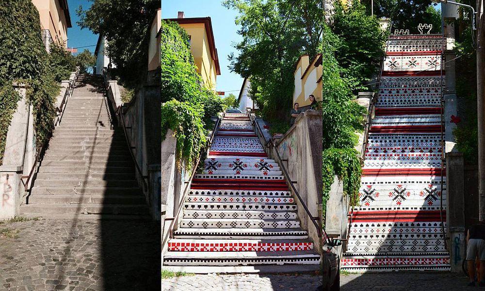 adelaparvu.com-despre-arta-urbana-in-Targu-Mures-Romania-Rakoczi-Stairs-in-Targu-Mures-City-Romania-9