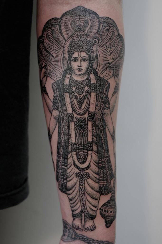Victor J Webster, tattoo artist Indian Lord Tattoo Design