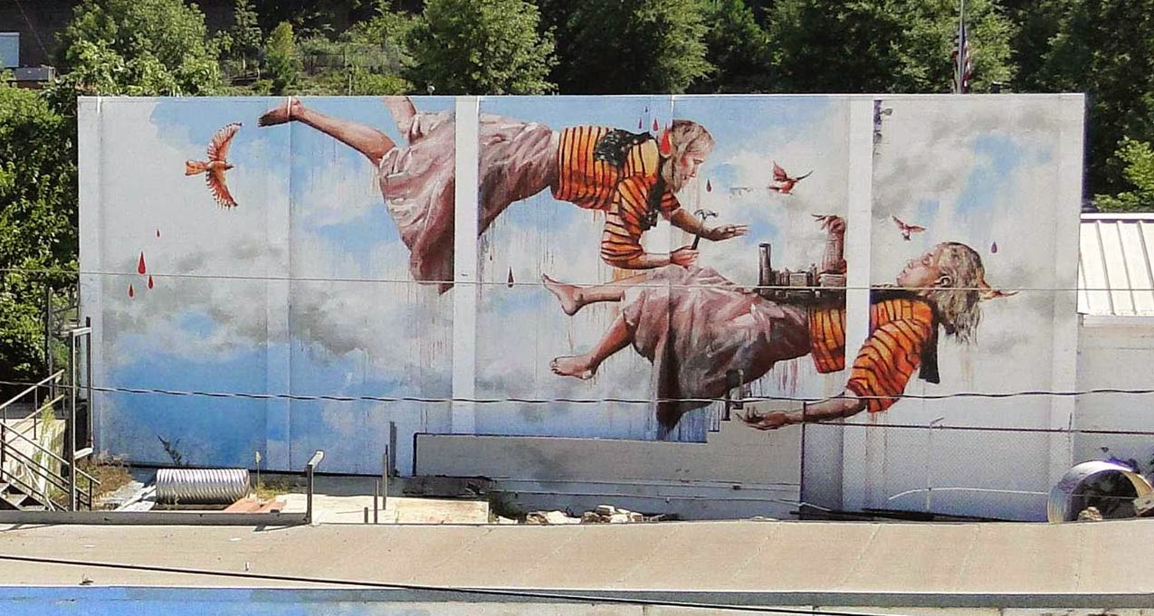 Fintan magee new mural atlanta usa the vandallist for Atlanta mural artist