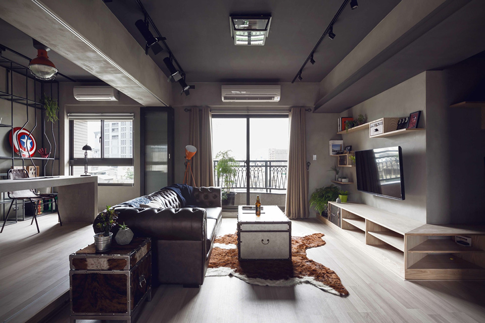 House-Design-Studios-Industrial-Bachelor-Apartment-in-Taiwan-1