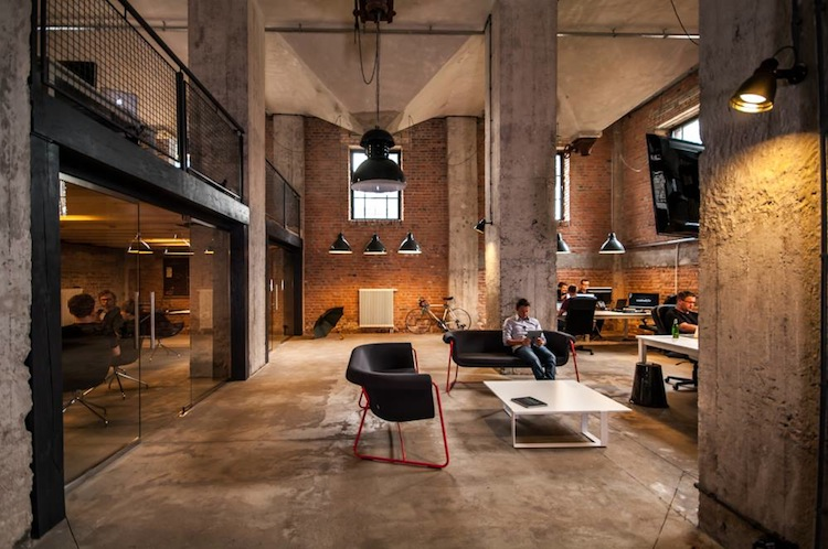 Creative style new office old mill at zablocie district for Industrial design startups