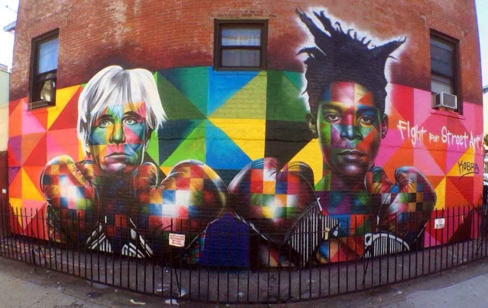 """Fight For Street Art"" by Kobra, in New York"