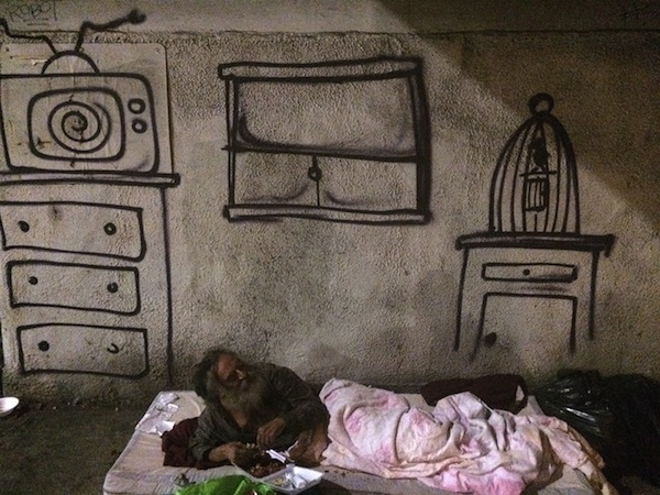 What Is A Skid >> Street Artist Raises Awareness Of The Homeless Situation ...