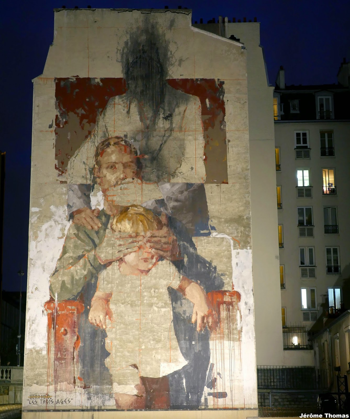 """i will call her_""""Les Trois Ages"""" by Borondo, Paris, France - The VandalList"""
