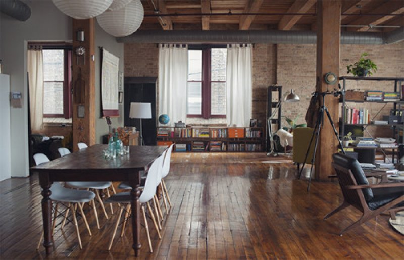 A live work loft in Chicago